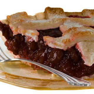Sour Cherry Cranberry Pie.