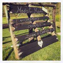 Photo: Our chalkboard pallet finally being used