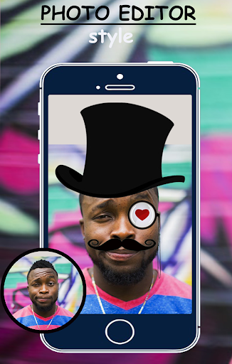 Man photo editor mustache style and goggles 2018 2.0 screenshots 3