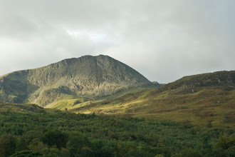 Photo: The north face of Cader Idris in the morning sunshine.