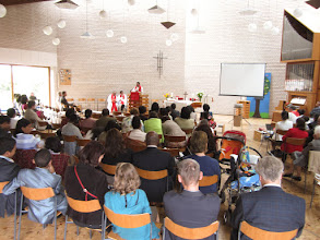 Photo: The Malagasy Lutheran Church of Brussels inaugural service on August 28.