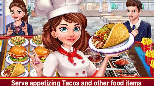 High School Cafu00e9 Girl: Burger Serving Cooking Game 2.3 Paidproapk.com 1