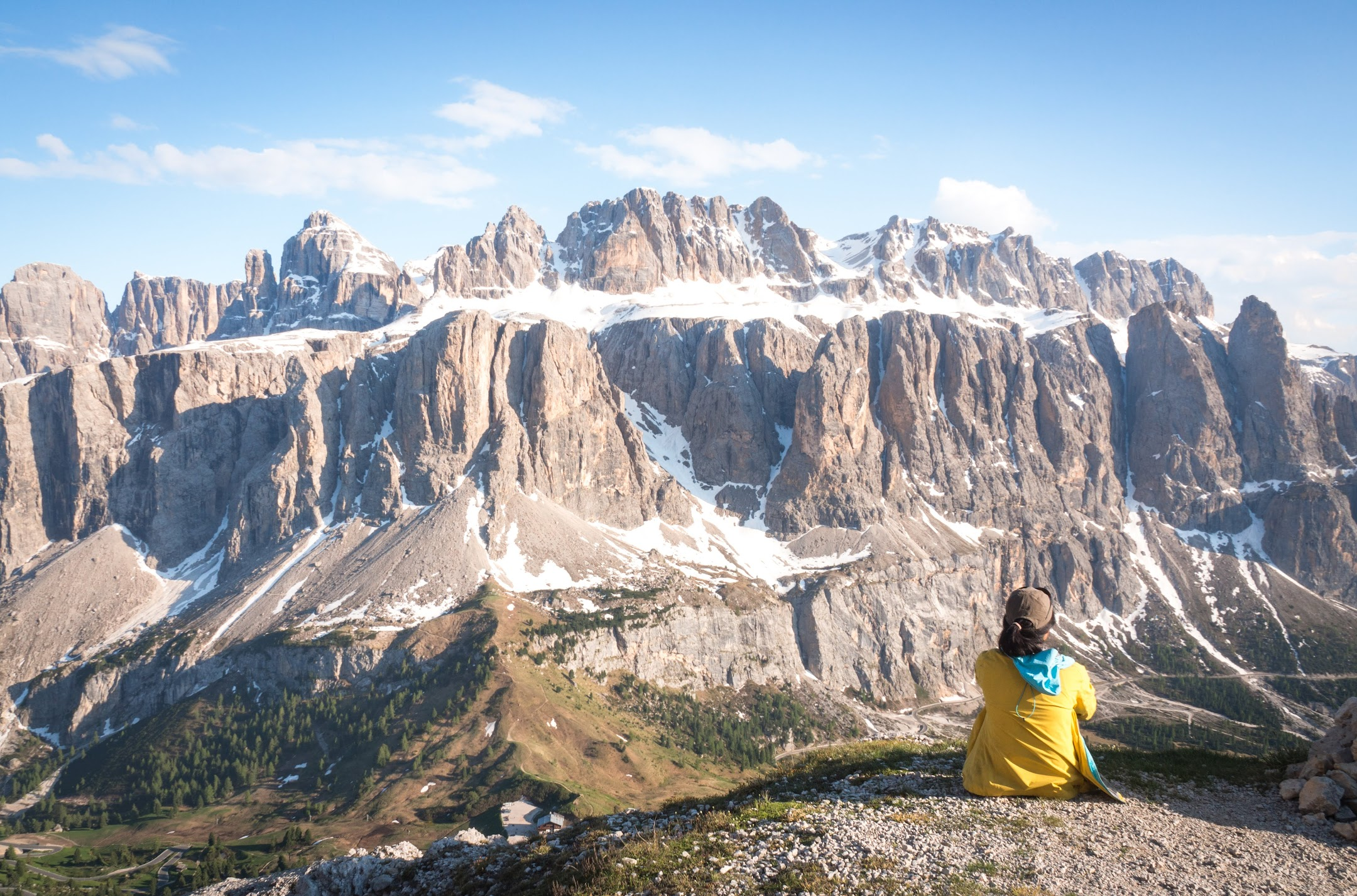 A steep, but short hike from Val Gardena to the cross will get you to this amazing viewpoint.