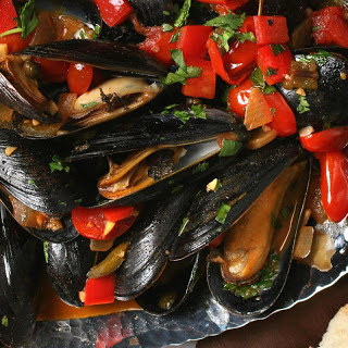 Smoked Chile Mussels.