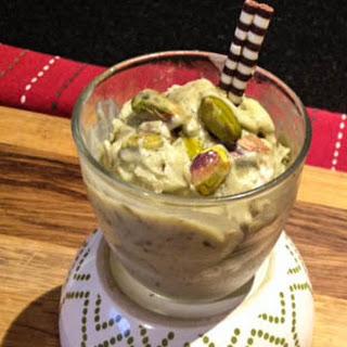 Creamy, Vegan Pistachio Cashew Ice Cream (made w/ Avocado).