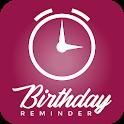 Birthday reminder, free notification reminders icon