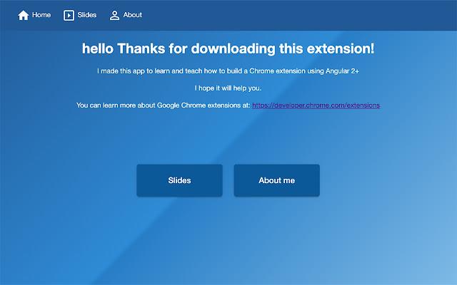 Angular 2+ Google Chrome extension