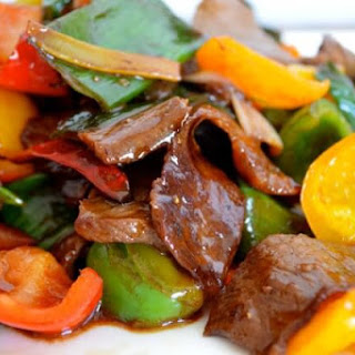 TRICOLOR PEPPER STEAK WITH LEEKS (A Pepper Steak Makeover)