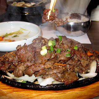 Bulgogi, Korean Barbequed Beef.