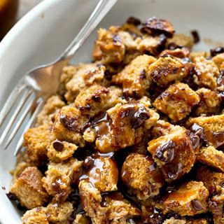 Chocolate Chip Bread Pudding Caramel Sauce Recipes