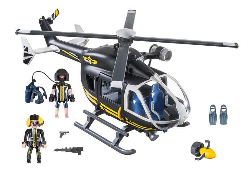 Contenido real de Playmobil® 9363 Helicóptero de las Fuerzas Especiales