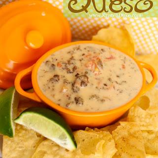 Easy 4 Ingredient Queso with Velveeta Block Cheese.