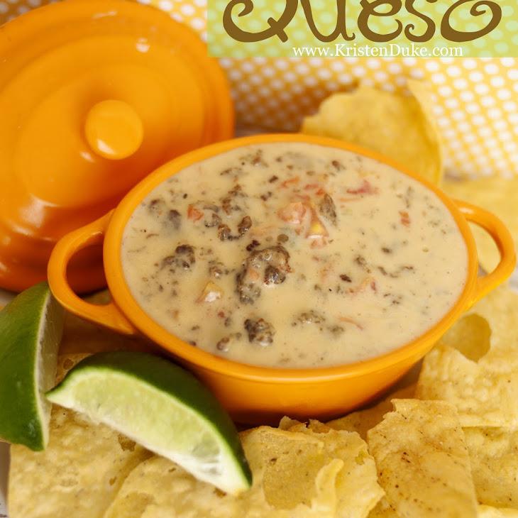 Easy 4 Ingredient Queso with Velveeta Block Cheese Recipe