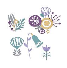 Sizzix Thinlits Dies - Folk Florals