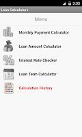 Screenshot of Loan Calculators