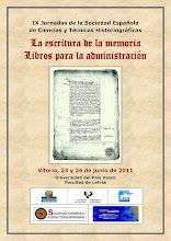 Photo: Cartel de las IX Jornadas de Ciencias y Técnicas Historiográficas. Vitoria, junio de 2011