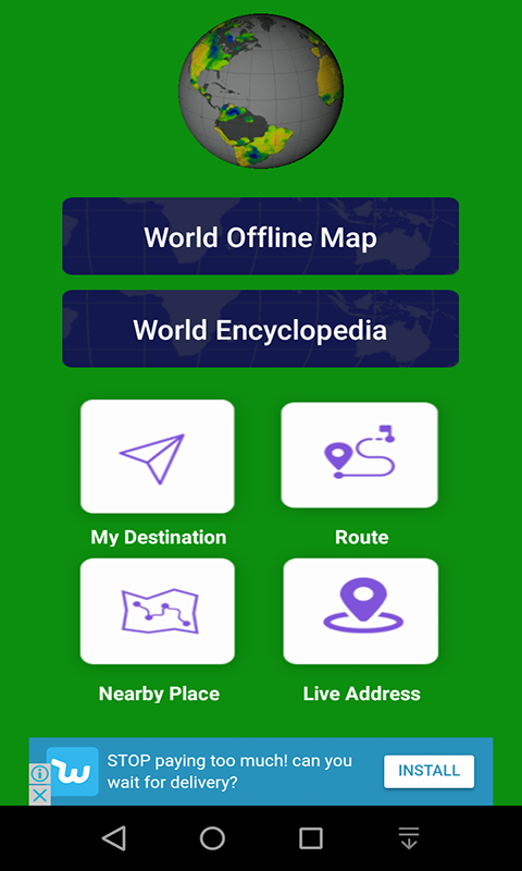 World Offline Map,Live StreetView and RouteFinder