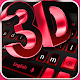 Classic 3D keyboard Neon Red Black Theme 2019