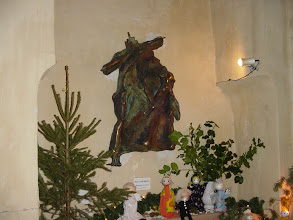 Photo: An unusual crucifix sculpture in the Cathedral.
