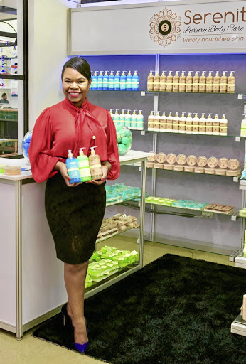 Sarinah Matema-Morgans, the founder and managing director of Serenitii Luxury Body Care products. /Supplied