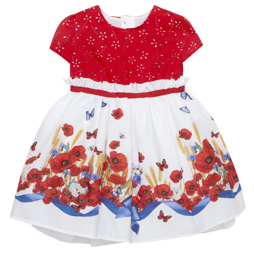 Primary image of Monnalisa Poppy Cotton Dress