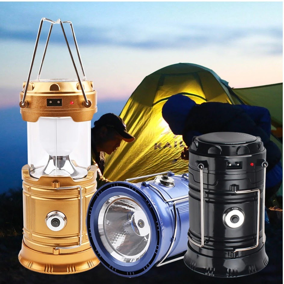Solar Rechargeable LED Camping Lantern