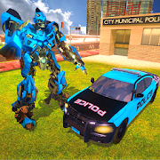 US Police Cop Car Robot Transformation Police Game