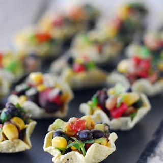 Cowboy Caviar Cups ~ An Easy Appetizer.