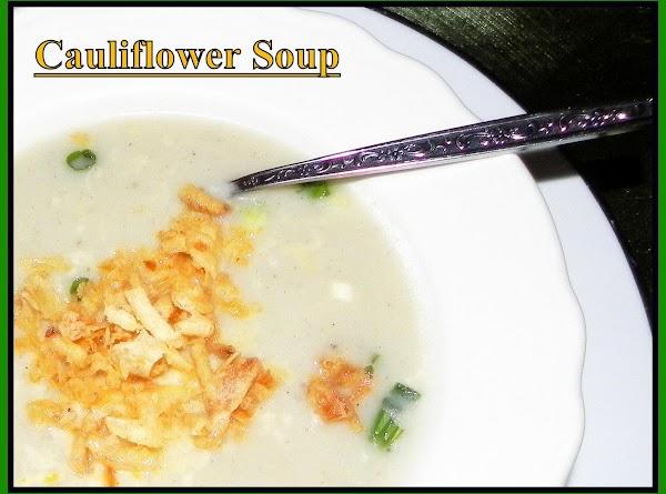 Cauliflower Soup W/smokey Gouda & Fried Onions Recipe