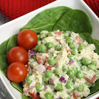 High Protein Sweet Pea and Dill Tuna Salad.