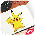 Draw POKE characters  ✏️ icon