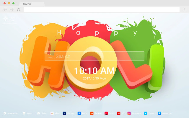 Holi Festival Popular HD New Tab Theme
