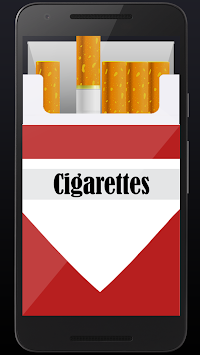 Smoking virtual cigarettes APK screenshot thumbnail 3