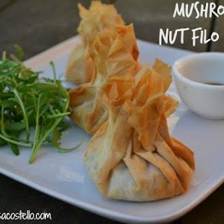 Mushroom & Nut Filo Parcels.