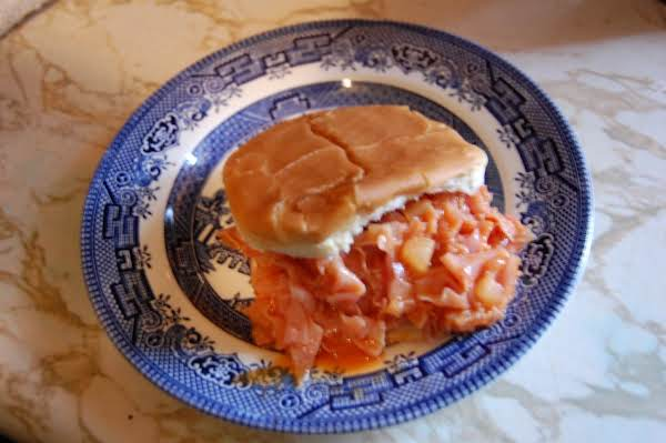 Mom's Easy Bar-b-que Ham Sandwich