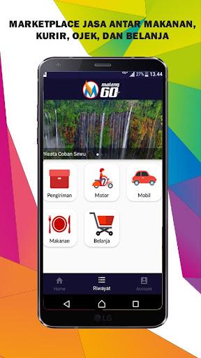 malang go - transportasi, ojek, kurir, delivery screenshot 1