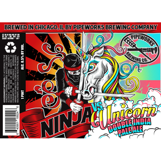 Pipeworks Ninja Vs. Unicorn IIPA