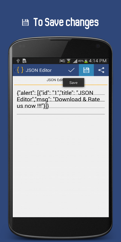 json editor screenshot