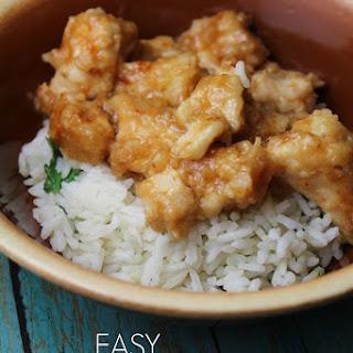 15-Minute Orange Chicken with Steamed Rice Recipe