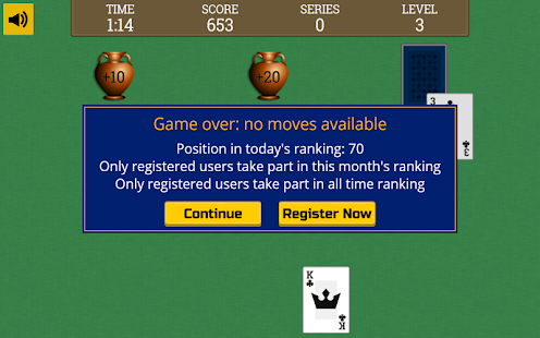 Tripeaks Solitaire [face-down]- screenshot thumbnail