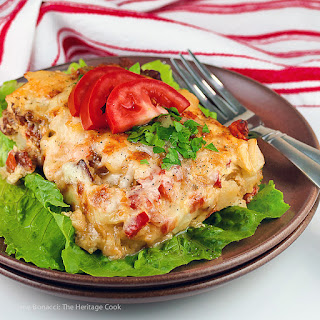 Easy Cheesy Potatoes O'Brien Bacon Casserole (Gluten-Free).