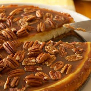 Pecan and Salted Caramel Cheesecake.