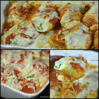 Stuffed Shells with Sausage Filling.