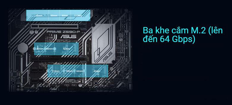 Bo mạch chính/ Mainboard ASUS PRIME Z590-P/CSM | Ba khe cắm M,2