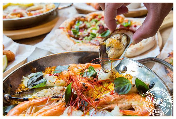 堤諾披薩菜單西班牙海鮮烤飯
