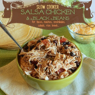 Slow Cooker Salsa Chicken & Black Beans for Tacos for #SundaySupper