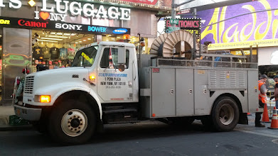 Photo: Stealth Fiber Crew in #timessquarenyc installing #FiberOptics #nyc