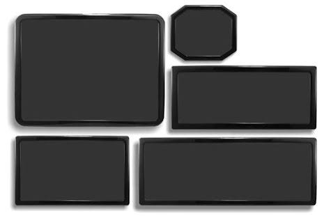 DEMCiflex magnetisk filtersett for Corsair 500R, sort