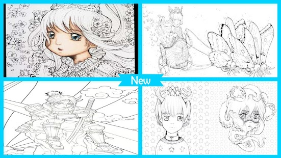 Cool Manga Coloring Book - náhled