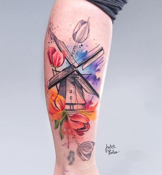 5. ประเภทรอยสักบ่งบอกความเป็นศิลปะบนร่างกาย Watercolor